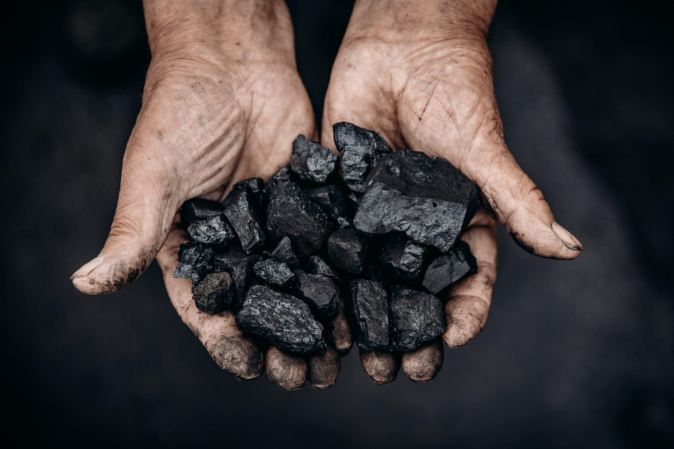 holding coal