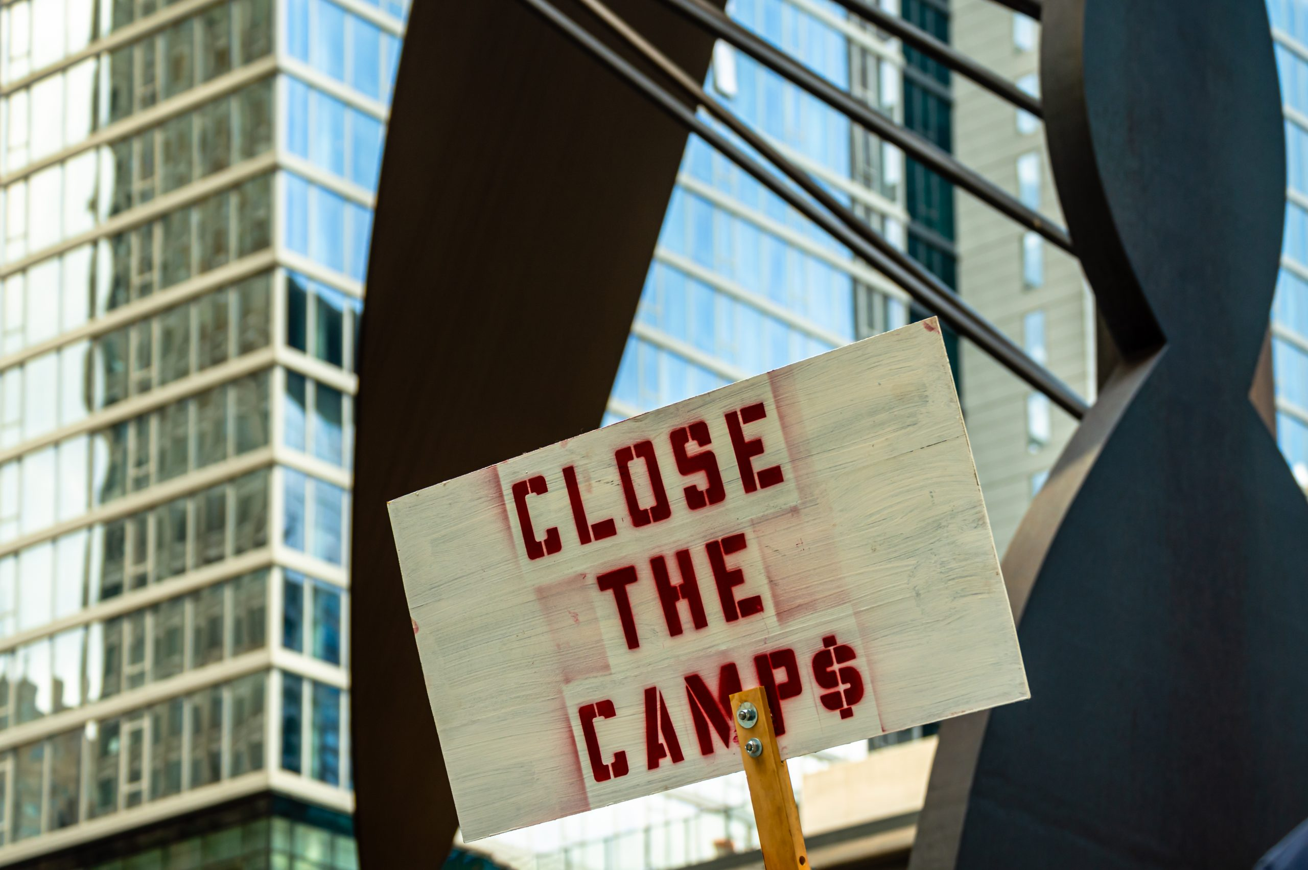 close the camps sign