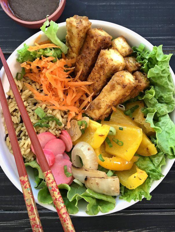 Vegan Crispy Spicy Tofu