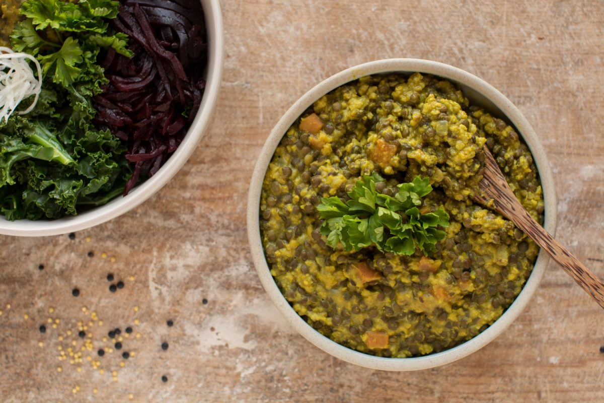 Vegan Dal with Millet and Lentils
