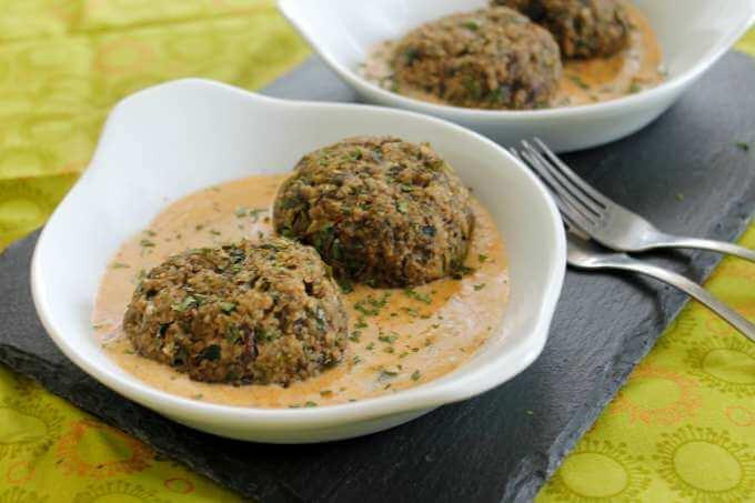 Freezer Friendly Eggplant Meatballs
