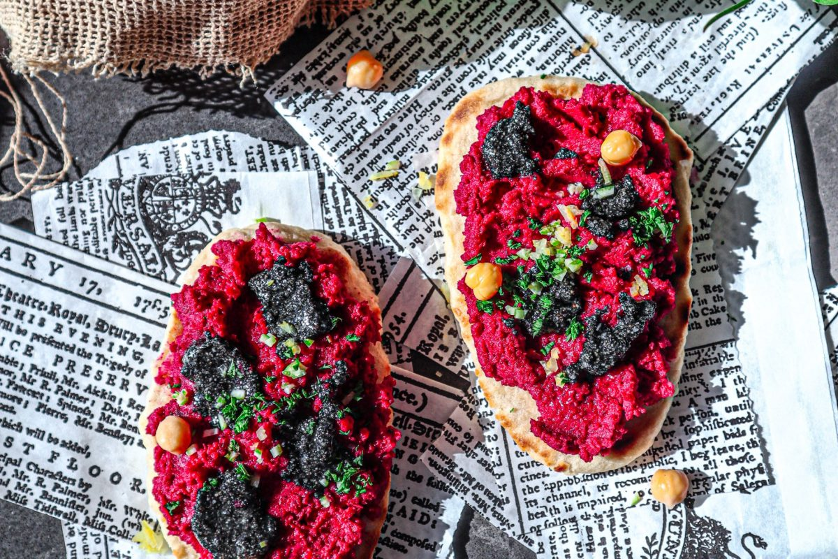 miso beetroot hummus