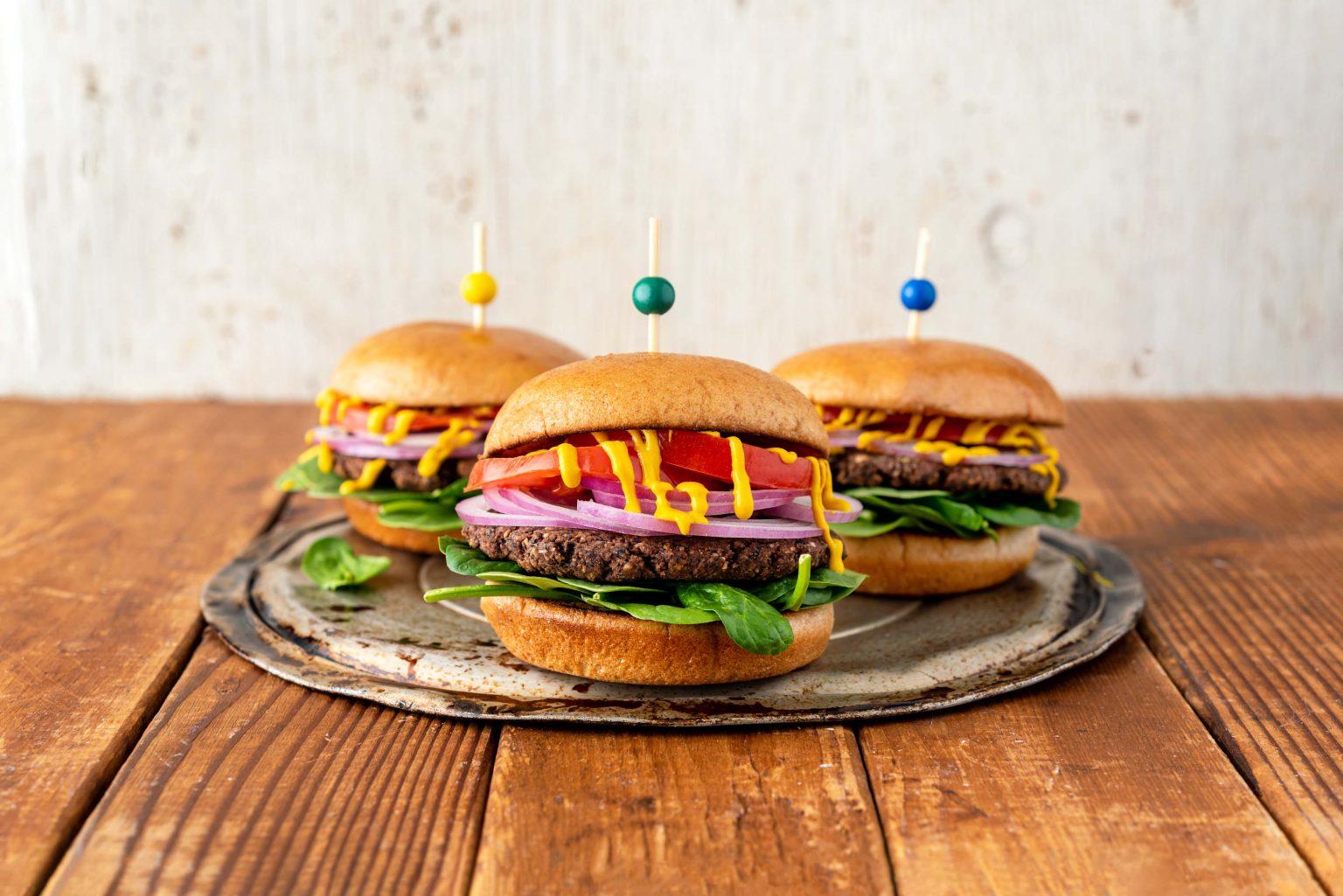 Vegan Bean and Beet Burgers