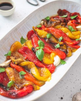 Oven-roasted bell peppers