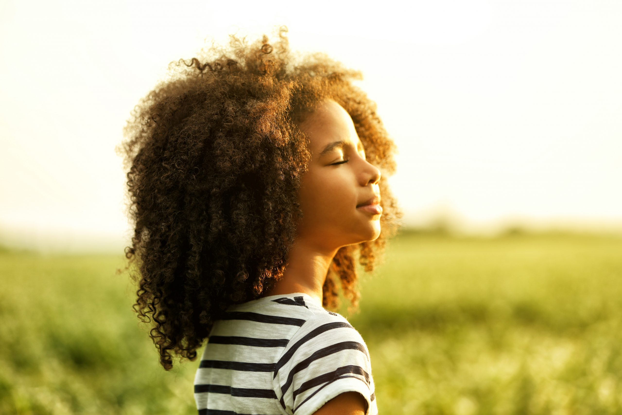 little girl with natural hair