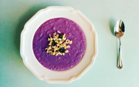 Vietnamese Creamy Purple Yam Soup