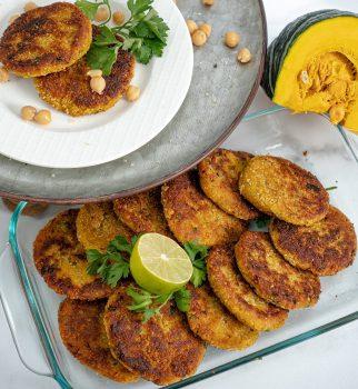 Chickpea + Pumpkin Fritters