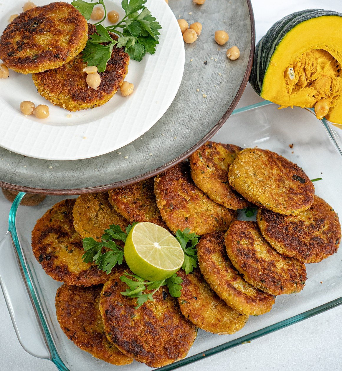 Chickpea and Pumpkin Fritters [Vegan]