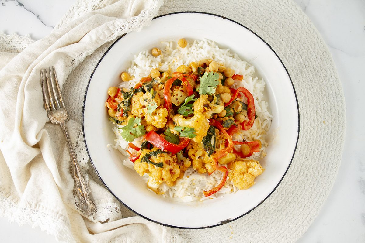 Vegan One-Pot Thai Cauliflower Curry