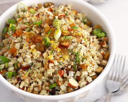 Zesty Cauliflower Rice Pilaf