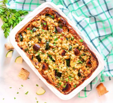 loaded zucchini breakfast casserole