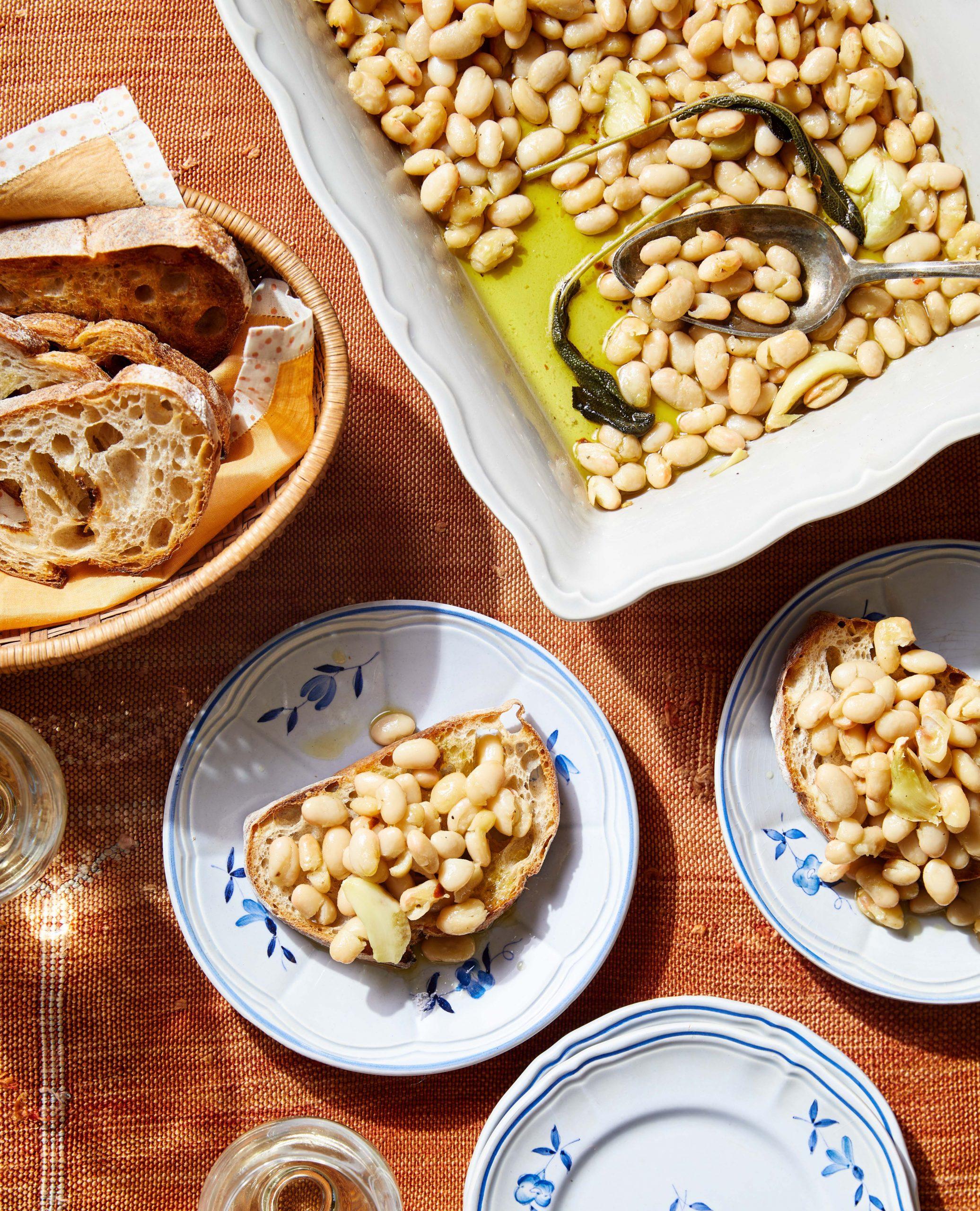 Olive Oil–Braised White Beans