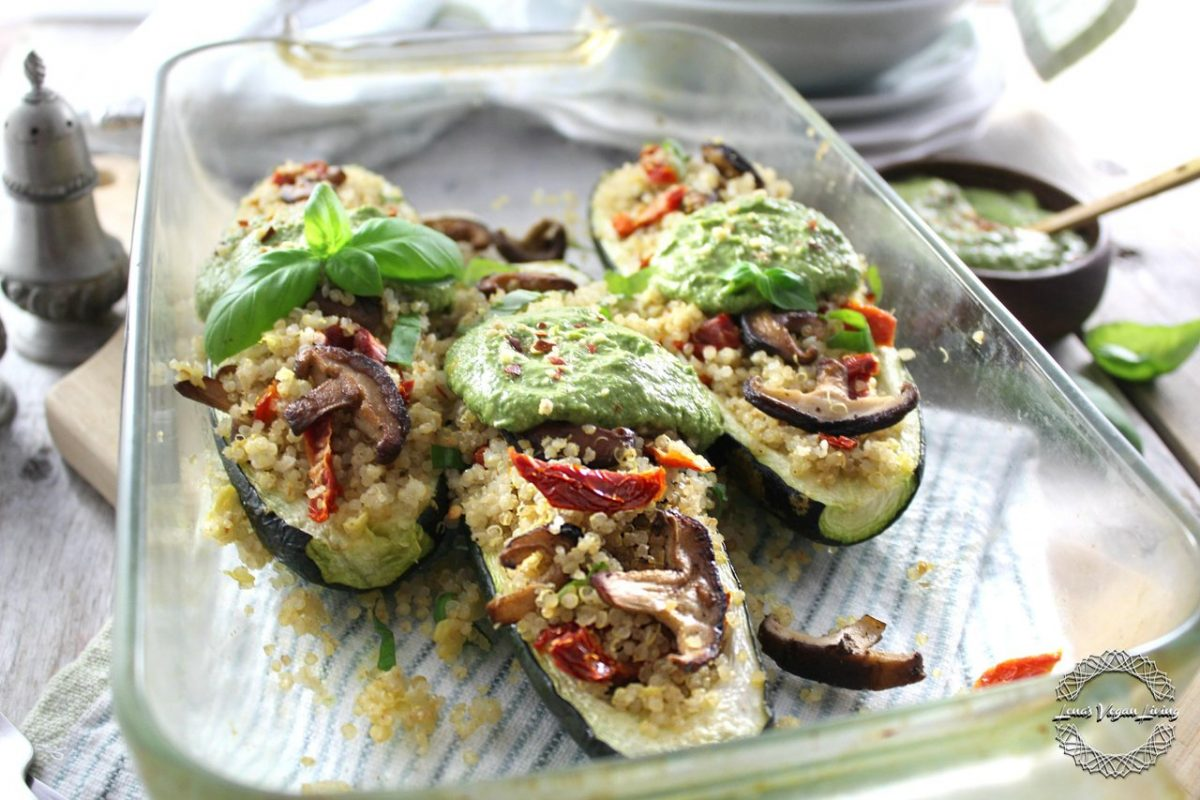 Vegan Zucchini Boats