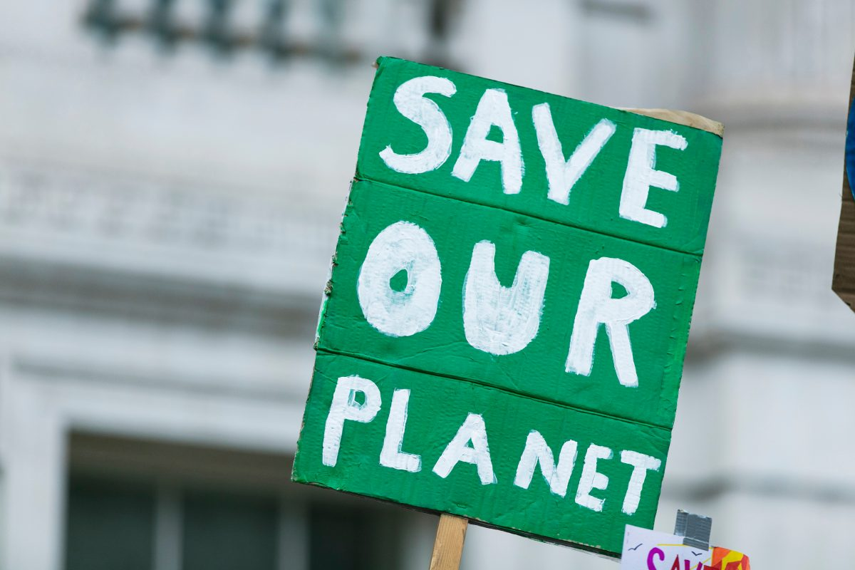 save our planet sign