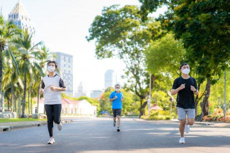 Jogging with masks