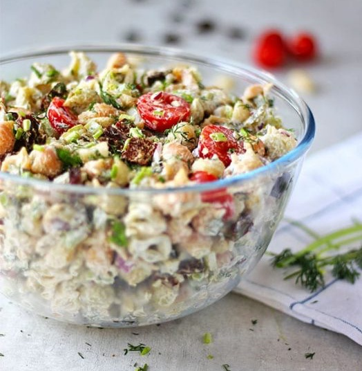 Vegan Dill Pickle Pasta Salad