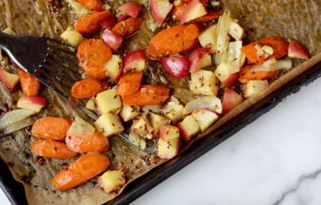 Maple-Mustard Roasted Carrots & Apples