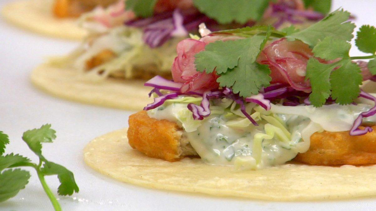Vegan Baja Fishless Tacos
