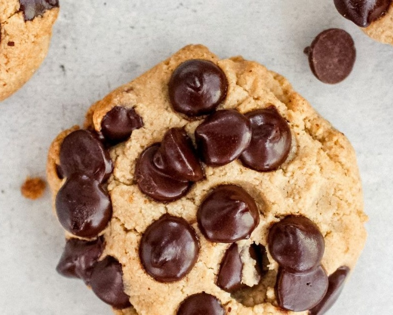 Vegan Break and Bake Peanut Butter Chocolate Chip Cookies