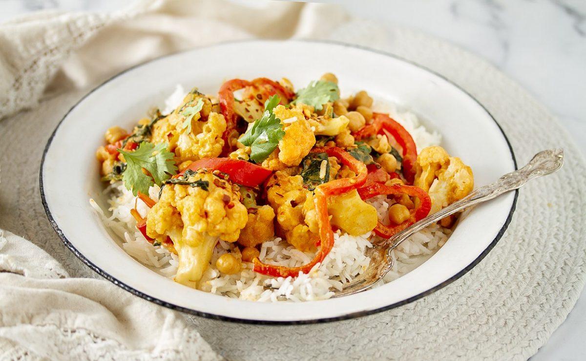 One Pot Thai Cauliflower Curry