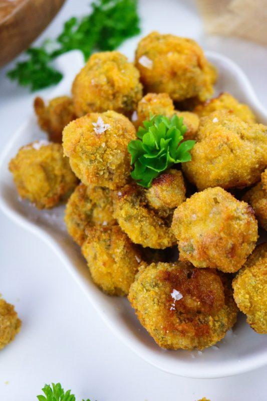 Champignons à l'ail friteuse à air