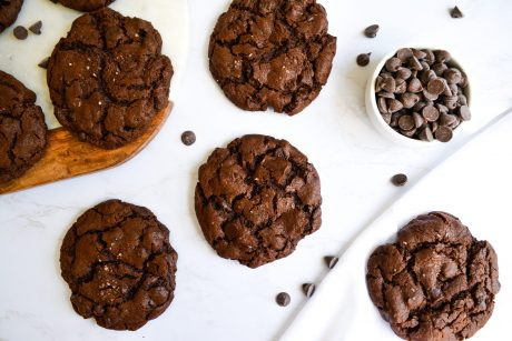 Soft and Chewy Double Chocolate Cookies