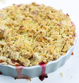Rhubarb & Amaretto Crumble