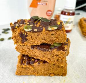 Vegan Pumpkin Protein Bars