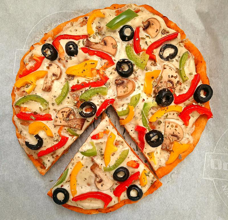 Easy Vegan Homemade Pizza (whole wheat)