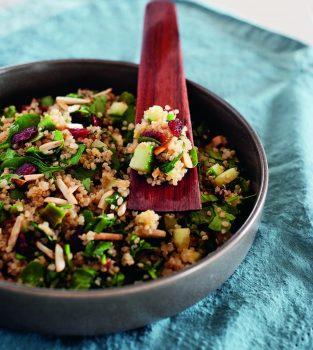 warm quinoa