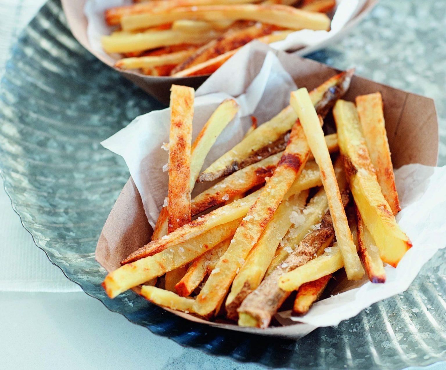 Vegan Crispy Baked Garlic French Fries