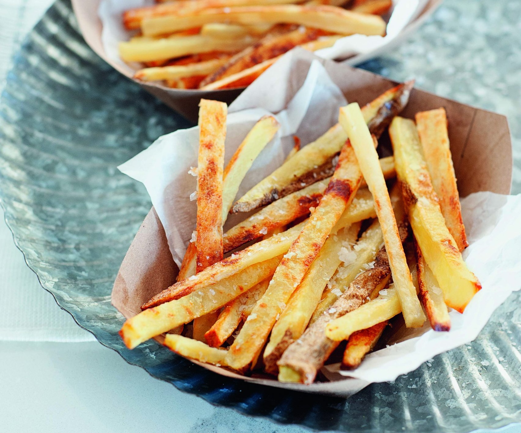 Crispy Baked Garlic French Fries [Vegan]