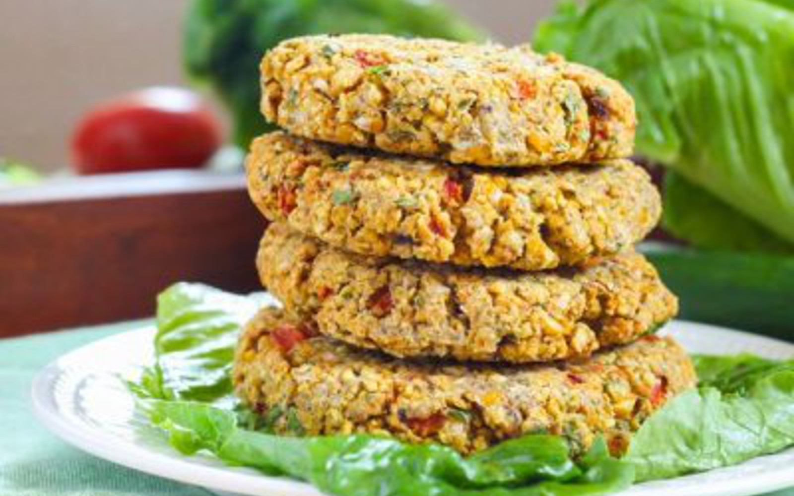 Roasted Red Pepper Chickpea Burger