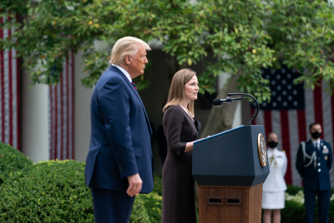 trump and Amy coney barrett