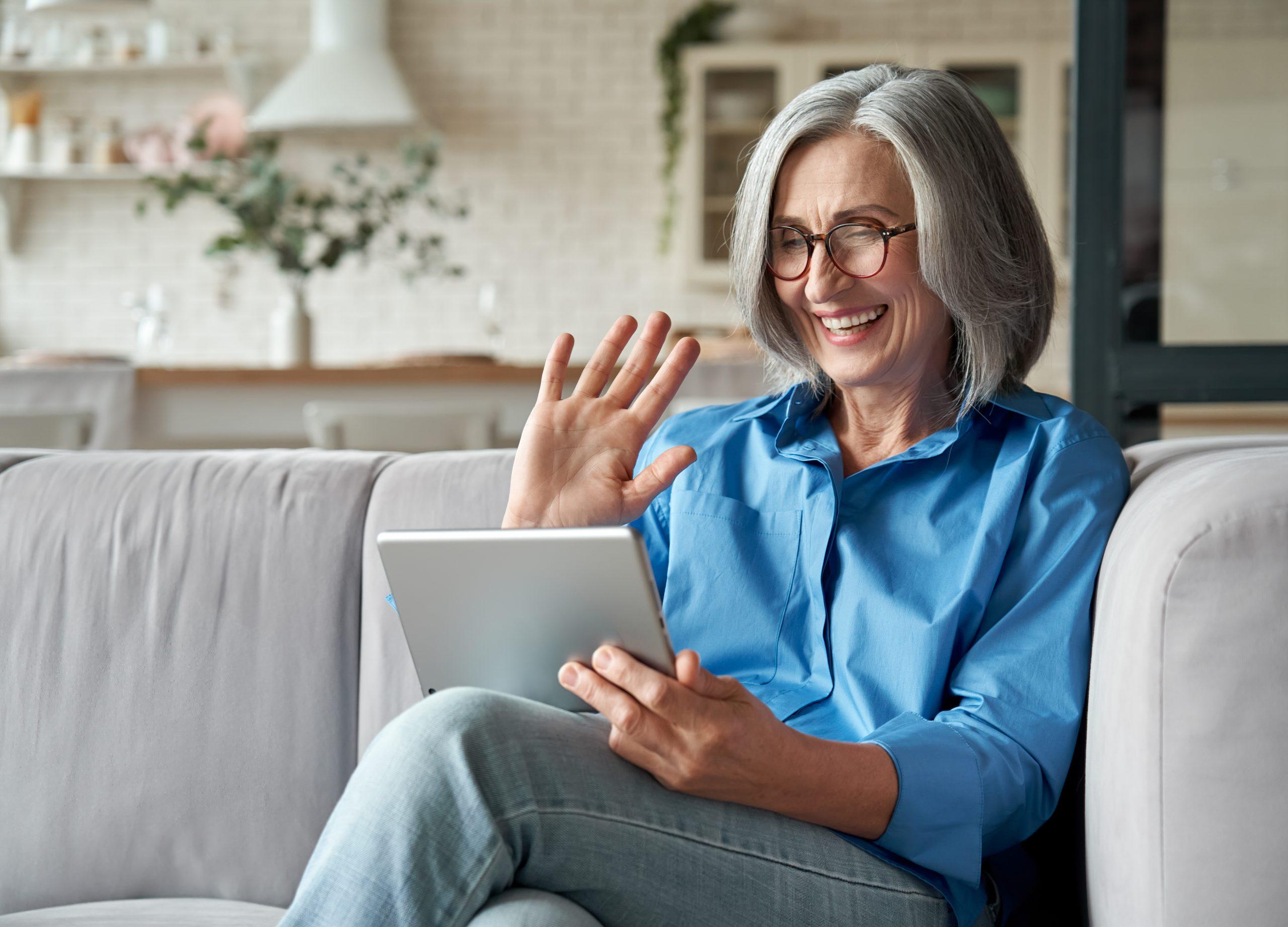 Older Woman Zoom
