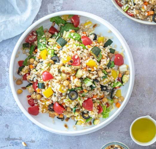 Italian Rice Salad [Vegan]