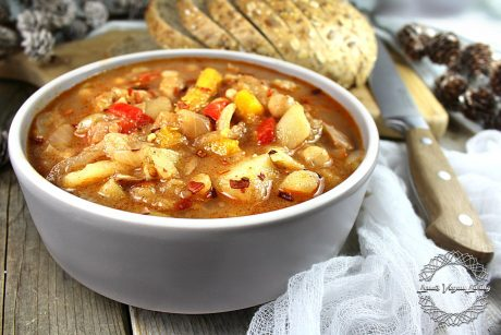 Jackfruit Stew with Chickpeas and Root Vegetables