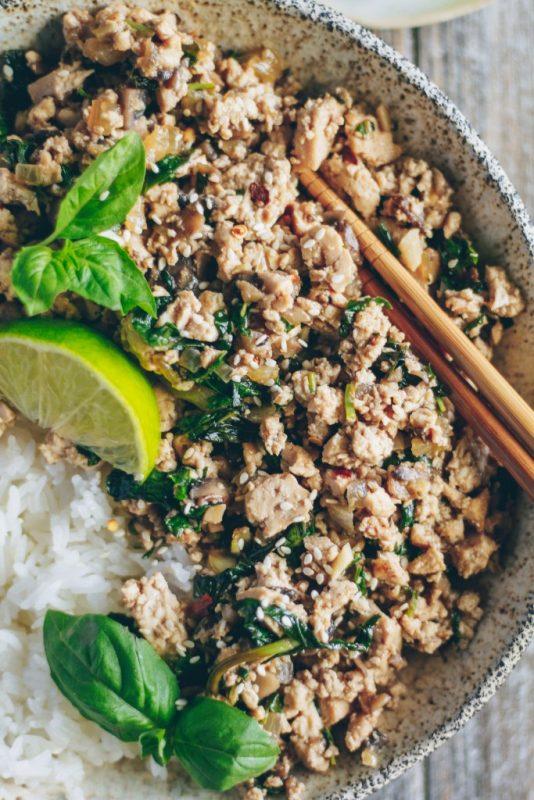 Tofu au basilic d'inspiration thaïlandaise