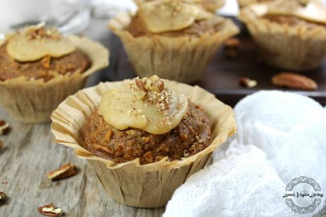 Festive Carrot Cake Muffins with Maple Curd & Pecans