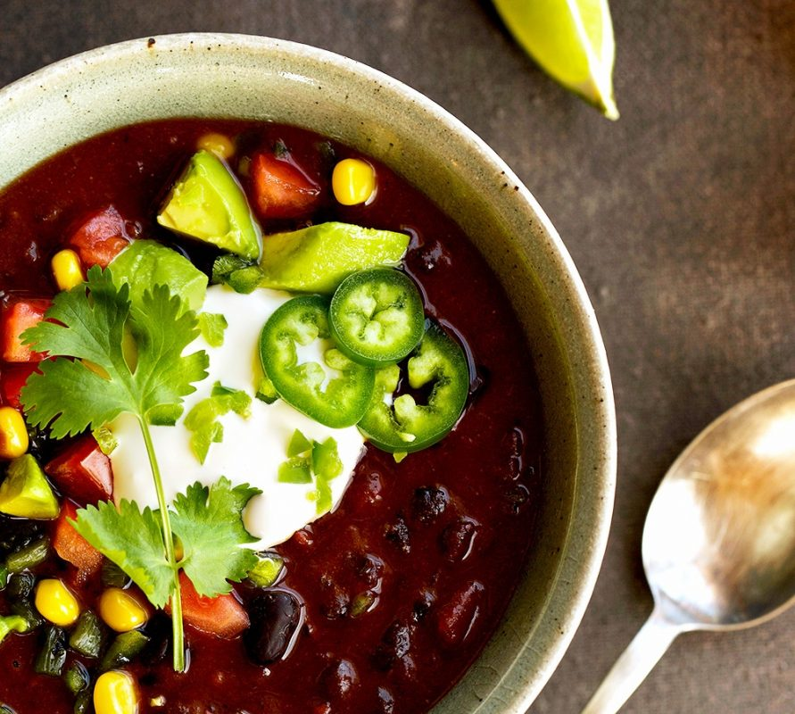 Vegan Chipotle Black Bean Chili