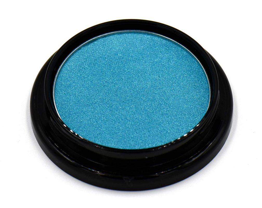 Pure Ziva Peacock Neon Jewel Tone Blue Turquoise Teal Shimmer Pressed Powder Eye Shadow