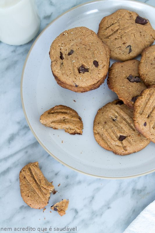 Vegan Peanut Butter and Chocolate Cookies