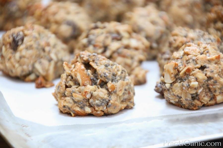 Vegan Peanut Butter and Chia Granola Bites
