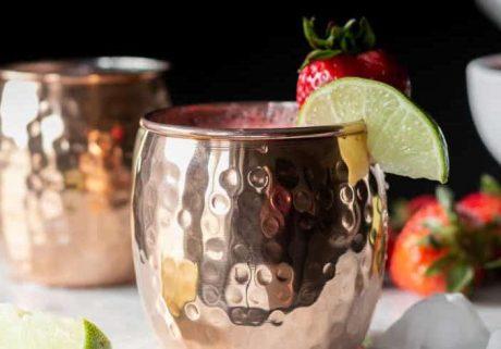 Strawberry Lime Kombucha Smash