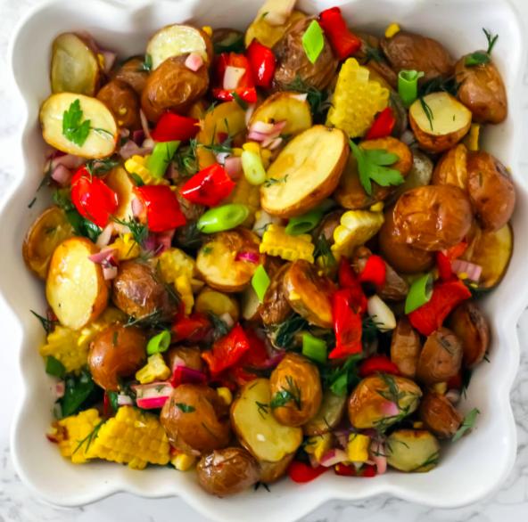 Vegan Roasted Corn and Potato Salad