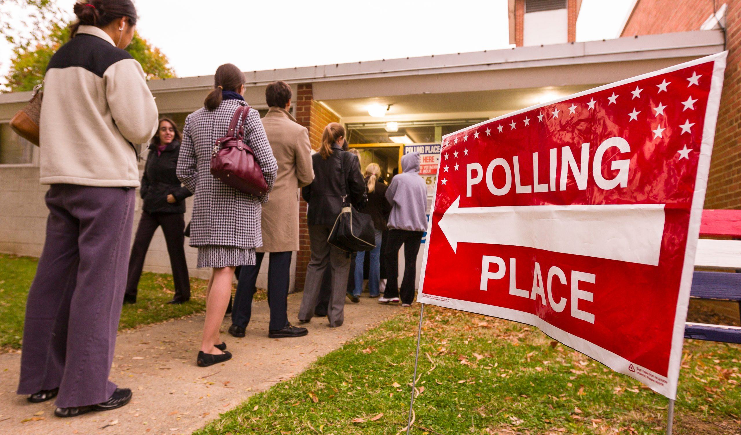 polling place line