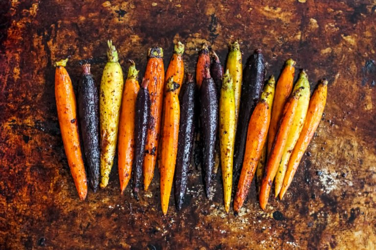 spicy maple carrots