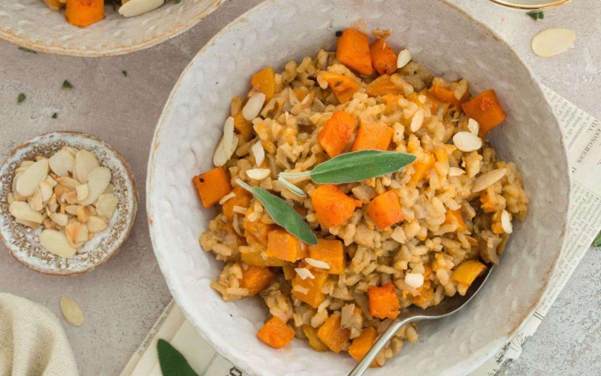 Vegan Squash, Sage, and Wild Mushroom Risotto