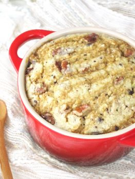 Turtle Cheesecake Baked Oatmeal