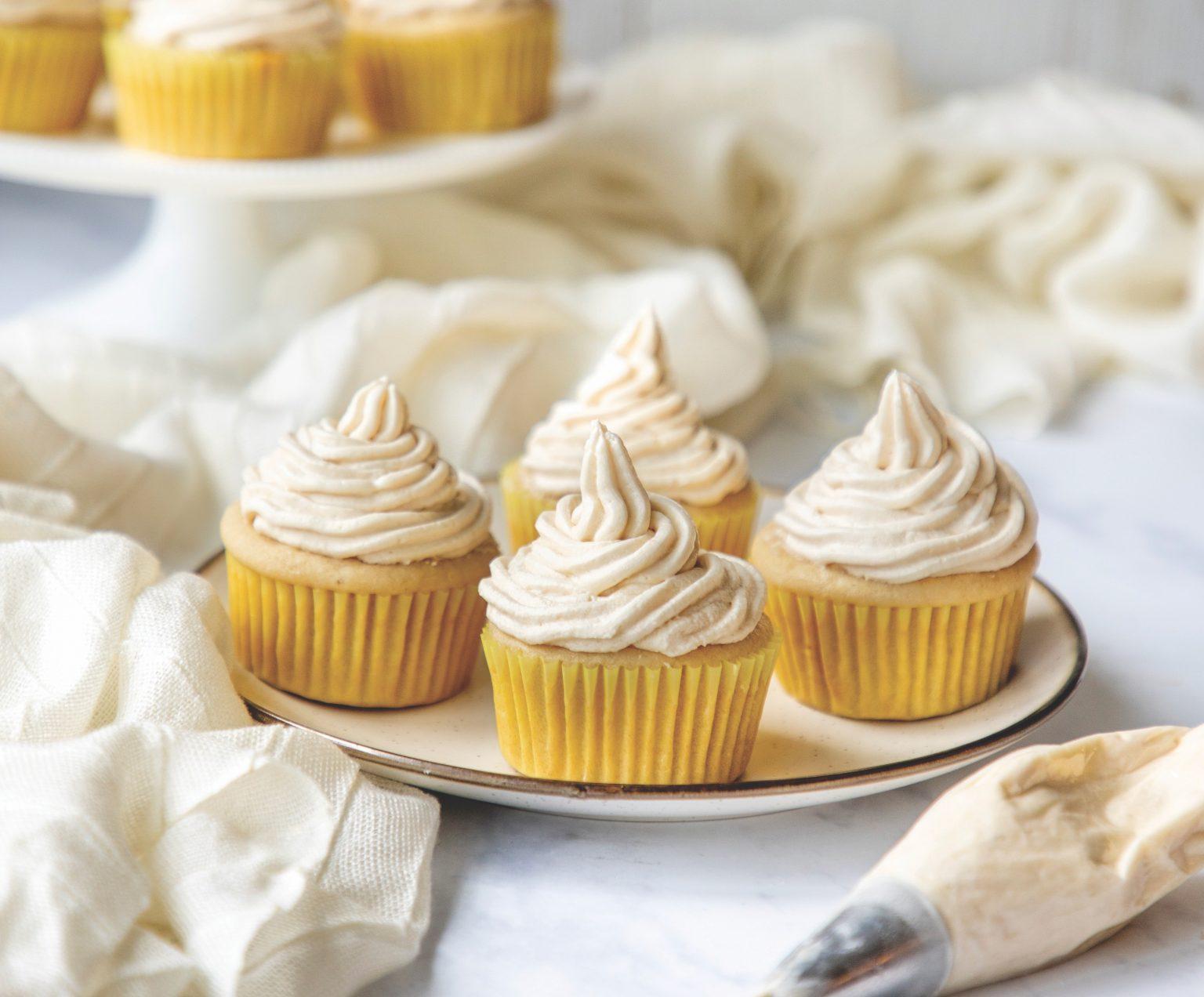 Vegan Vanilla Cupcakes with Buttercream